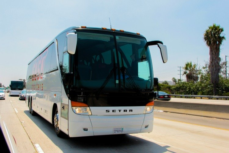 GOGO Charters charter bus in Los Angeles