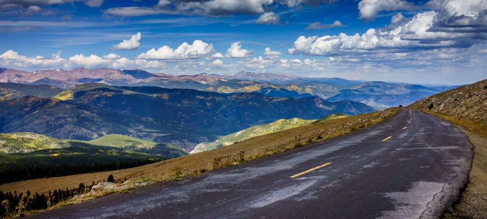 view of mount evans from mount evans scenic byway in colorado