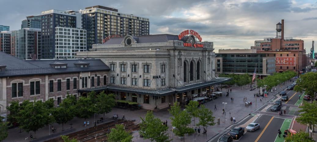 exterior of Union Station in Denver
