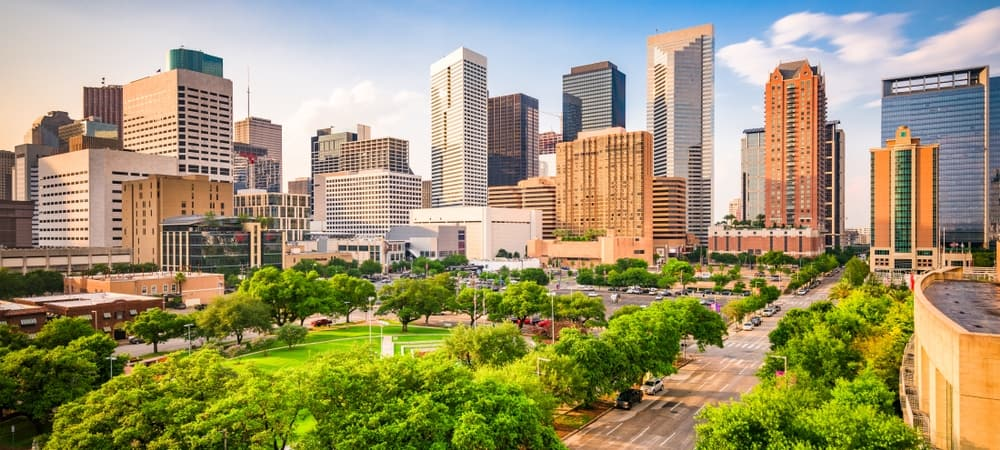 A view of Houston's skyline