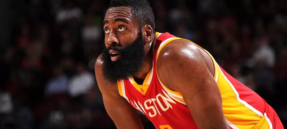 James Harden during a Houston Rockets game