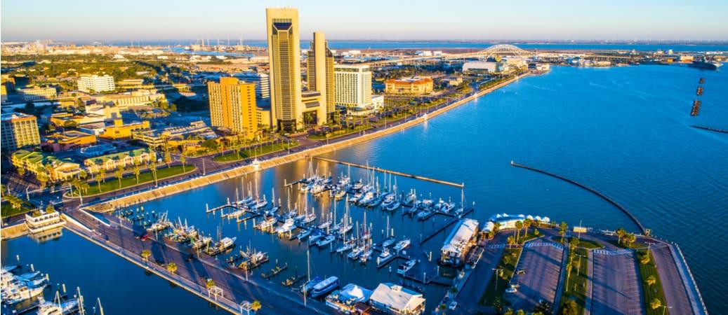 Corpus Christi, Texas waterfront and harbor