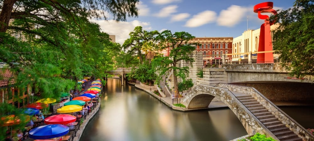 view of the San Antonio Riverwalk in daytime