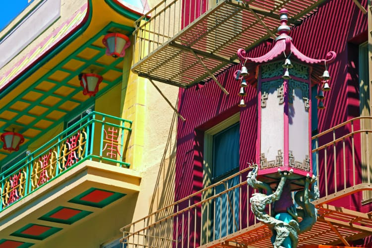 ornate architecture and design in San Francisco Chinatown