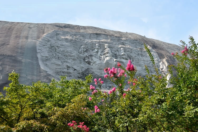 view of the carving on the side of Stone Mountain near Atlanta Georgia