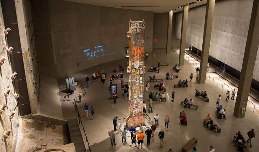 Monument inside 9/11 Museum