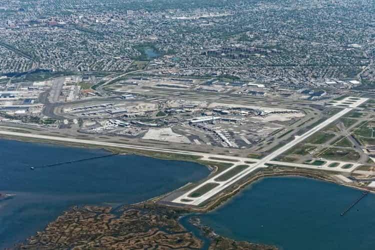 Aerial view of JFK Airport
