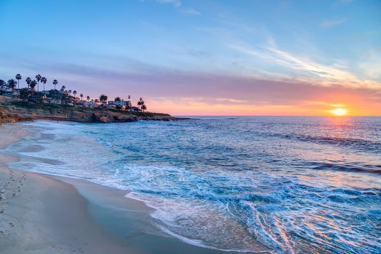 La Jolla Beach at sunset