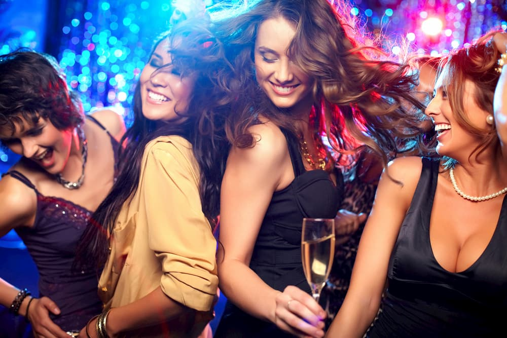 girls dance at a los angeles nightlife party