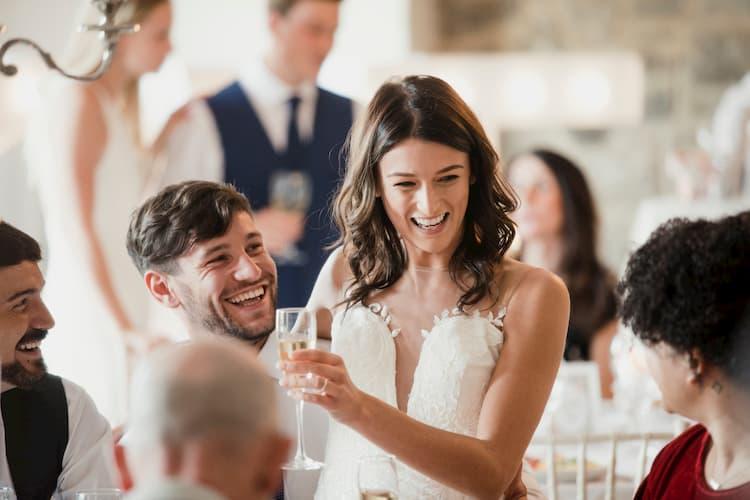 Los Angeles wedding couple smiling