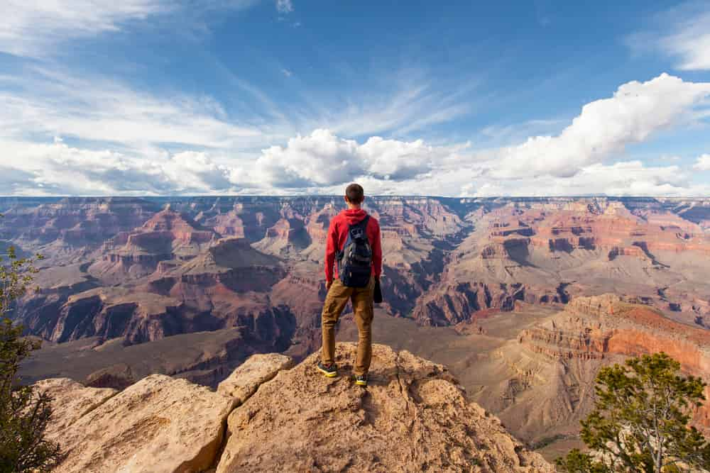 Man hiking in Grand Canyon
