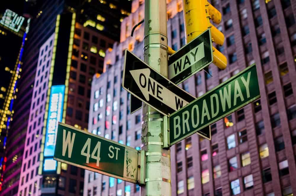 Broadway street signs