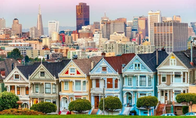 Painted ladies architecture in San Francisco
