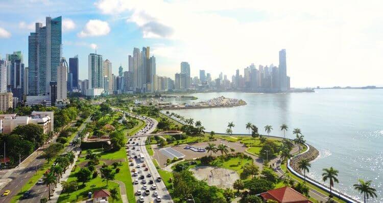 panama city beach florida skyline