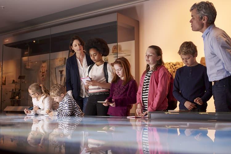 Students inside museum in Phoenix