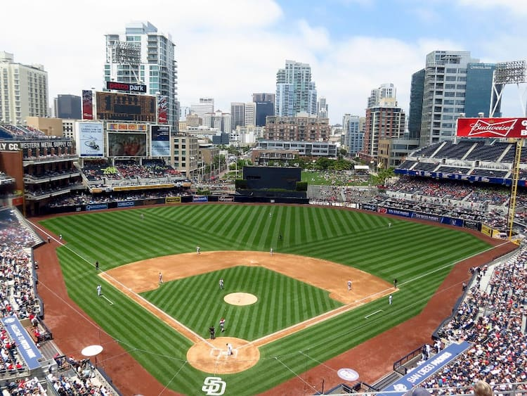 inside of petco park home of the san diego padres
