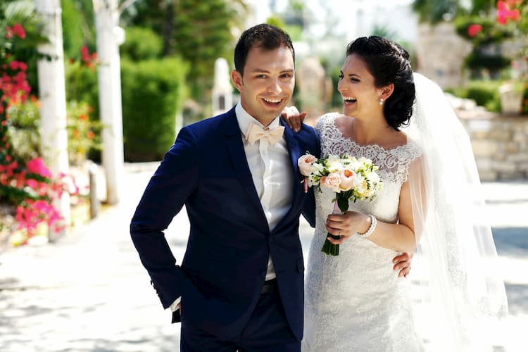 happy couple on their wedding day