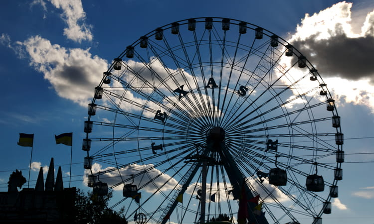 ferris wheel at the texas state fair in dallas