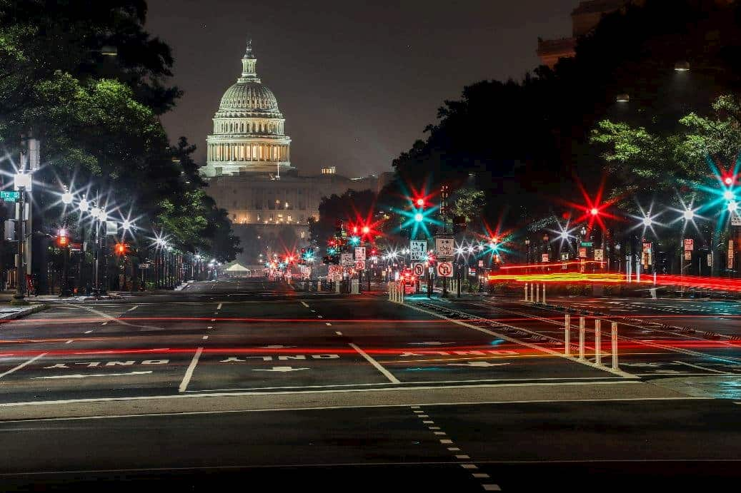 Washington DC at night