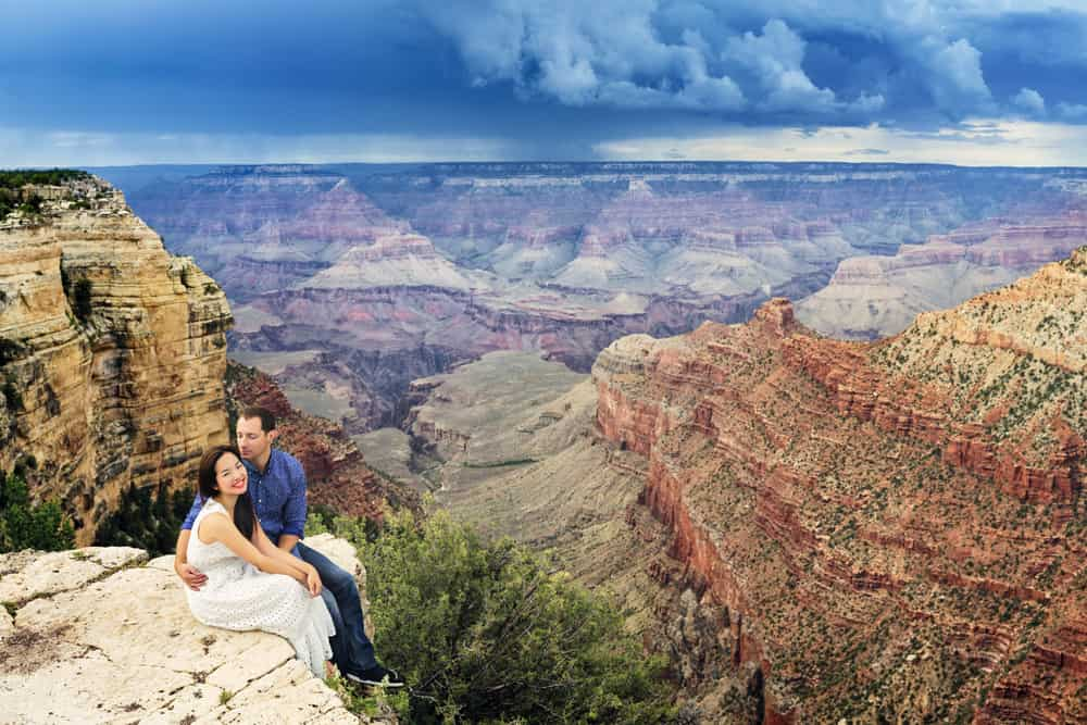 Just married couple at Grand Canyon