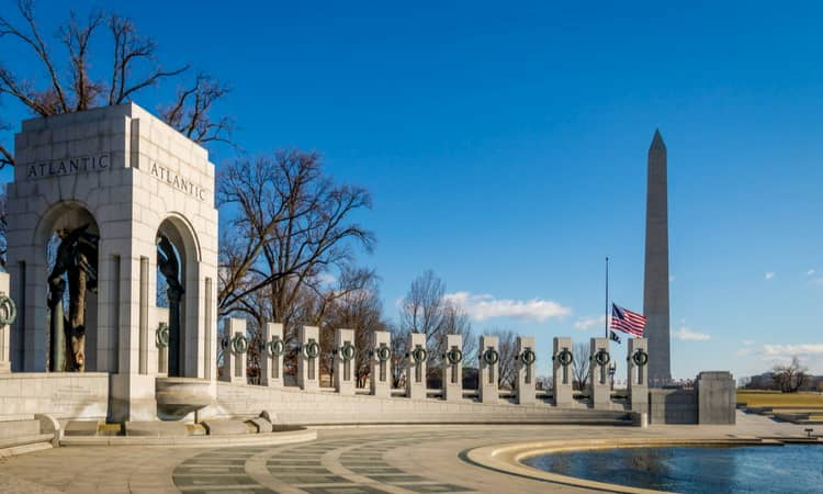 World War Two Memorial in Washington DC
